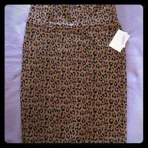 Dresses & Skirts - Lularoe Elegant Cassie Gold leopard Large BNWT
